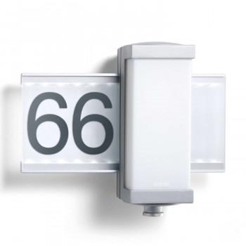 Steinel LED-Sensor-Leuchte L 665 LED, silber, 9 W