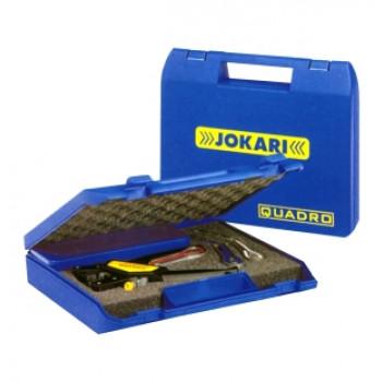 Jokari 60000 Quadro-Set Crimpzange mit 4 Funktionen Schneiden-Abisolieren-Verdrillen-Crimpen