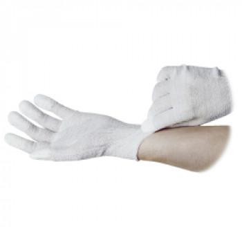 ESD-Handschuh mit PU-Gummierung weiß (10 Paar)