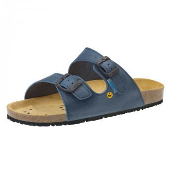 ABEBA® ESD Damen-/Herren-Pantolette 4086, blau