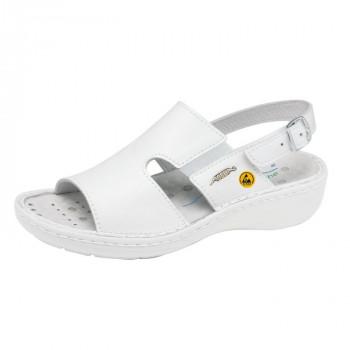 ABEBA® ESD Damen-Sandale 36874, weiß