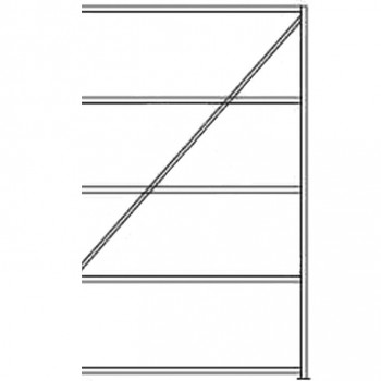 ESD Fachbodenregal 1000 x 2000 x 600 mm (Anbau)
