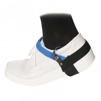 ESD Dauerfersenband mit Klettverschluss, schwarz/blau