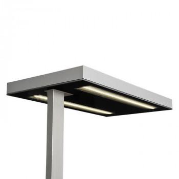 Glamox Luxo LED-Stehleuchte Free Floor ECO, IR+Tageslicht, grau