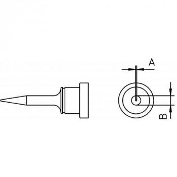 Weller Lötspitze LT 1S, 0,2 mm, Rundform schlank