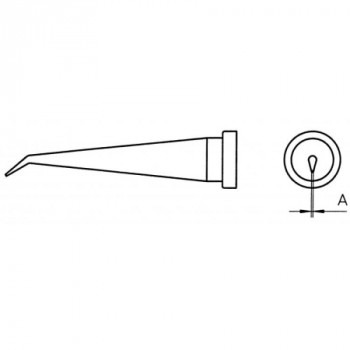 Weller Lötspitze LT 1LX, 0,2 mm, konisch lang, gebogen