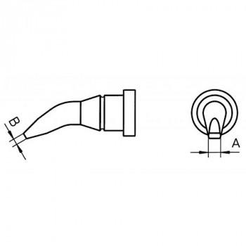Weller Lötspitze LT AX, 1,6 mm, Meißelform, gebogen 30°