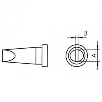 Weller Lötspitze LT B HPB, 2,4 mm, Meißelform