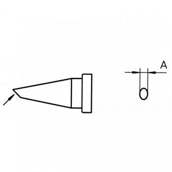 Weller Lötspitze LT F, 1,2 mm, Rundform, abgeschrägt 45°