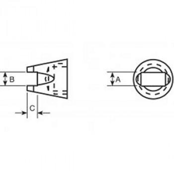 Weller SMD-Lötspitze SMT04 für Chip