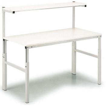 Treston Arbeitstisch TPH 918 ESD mit Etagenbord, 900 x 1800 mm, grau