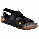 Birkenstock Damen-/Herren-Sandale Milano ESD BF, schmale Form, schwarz