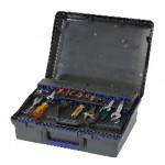 Raaco Servicecase 10 PLUS mit Schlüsselschloss anthrazit/blau/anthrazit