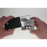 Eschenbach Taschenleuchtlupe easyPocket 152110, schwarz, 3 x