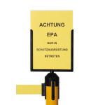 Schildhalter DIN A4 für EPA Absperrsystem