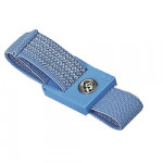 ESD-Handgelenkband mit 7 mm Druckknopf hellblau