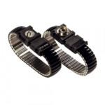 ESD-Metallgliederband mit 3 mm Druckknopf schwarz