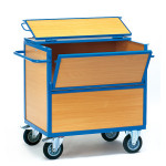 fetra Holzkastenwagen 2852 mit Deckel, 1000 x 700 mm, 500 kg