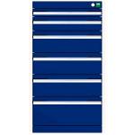 bott cubio Schubladenschrank, 6 Schubladen, (HxBxT) 900 x 525 x 525 mm, Vollauszug