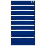 bott cubio Schubladenschrank, 7 Schubladen, (HxBxT) 900 x 525 x 525 mm, Einfachauszug