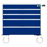 bott cubio Schubladenschrank, fahrbar, 4 Schubladen, (HxBxT) 780 x 800 x 525 mm, Einfachauszug