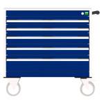 bott cubio Schubladenschrank, fahrbar, 5 Schubladen, (HxBxT) 780 x 800 x 525 mm, Einfachauszug