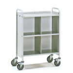 fetra Bürowagen 4873, 720 x 350 mm, lichtgrau/hellgrau, 150 kg