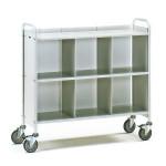 fetra Bürowagen 4878, 1080 x 350 mm, lichtgrau/hellgrau, 150 kg