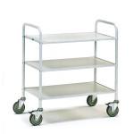 fetra Bürowagen 4882, 800 x 500 mm, lichtgrau/hellgrau, 150 kg