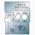 Elpress Pressbacke OCC1113 für BNC/TNC Verbinder
