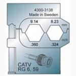 Elpress Pressbacke OCC4755 für CATV Verbinder