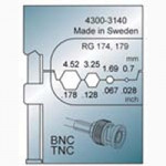 Elpress Pressbacke OCC0908 für BNC/TNC Verbinder