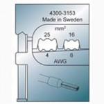 Elpress Pressbacke OEB1625 für Aderendülsen 16-25 mm²