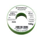 Stannol Lötdraht KS115 FLOWTIN TSC, Sn95,5Ag3,8Cu0,7+ML, 1,0 mm, 3,0%, 100 g