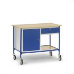 fetra Rolltisch 5866 mit Schrank + Schublade , 1120 x 650 mm, 150 kg