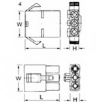 Elpress Rundsteckgehäuse MC03F für Rundstecker (100 Stück)