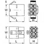 Elpress Rundsteckgehäuse MC06M für Rundsteckhülsen (100 Stück)