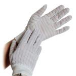 ESD-Handschuh mit PU-Beschichtung weiß (10 Paar)