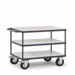 fetra ESD Tischwagen 9420 mit 3 Böden, 850 x 500 mm, 400 kg