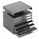 Licefa ESD-Aufbauschrank A1-1S 6-fach schwarz (leer)
