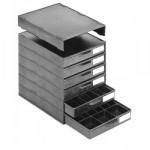 Licefa ESD-Aufbauschrank A1-2S 6-fach schwarz (leer)