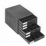 Licefa ESD-Aufbauschrank A1-4/6 6-fach schwarz (mit Einlagen)