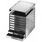 Licefa ESD-Aufbauschrank A1-4 9-fach schwarz (leer)