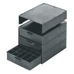 Licefa ESD-Aufbauschrank A1-60 4-fach schwarz (leer)
