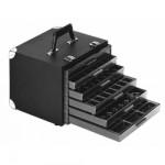 Licefa ESD-Schubladenkoffer mit Aufbauschrank A1-1S 6-fach schwarz (leer)