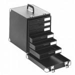 Licefa ESD-Schubladenkoffer mit Aufbauschrank A1-2S 6-fach schwarz