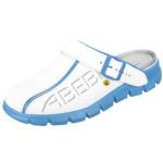 ABEBA® ESD Damen-/Herren-Clog Dynamic 37312, weiß/blau