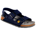 Birkenstock Damen-/Herren-Sandale Milano ESD BF, normale Form, blau, Gr. 44