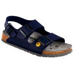 Birkenstock Damen-/Herren-Sandale Milano ESD BF, schmale Form, blau, Gr. 43