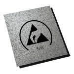 ESD-Bodenmatte Ecostat-CF Puzzle 8.5 mit Logo, 469 x 469 x 8,5 mm